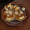 Hallie is quite creative, even with her breakfast!!
