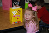 Camden and her Valentine's bag.