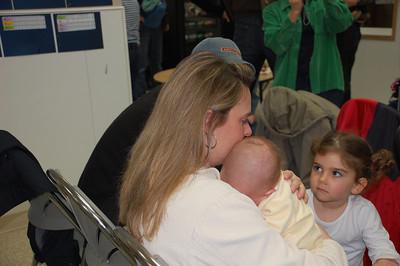 Kim with baby Ronan & Marina