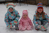 My three snow bunnies!