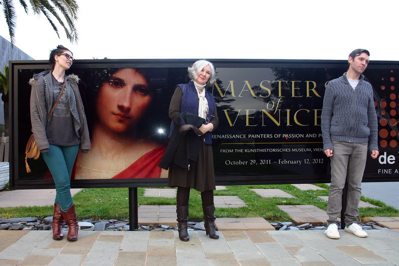 "Met up with Kim & David to see the ""Masters of Venice"" exhibit... incredible show... and wonderful to be able to share the experience with them!!  As you can see from this photo, they found the experience to be posturally inspiring."
