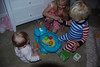 On Andie's half birthday the big kids wanted her to open the 6 month and up toys, they really have good mermory.