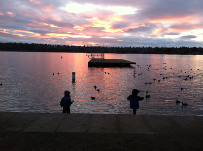 sunset at greenlake