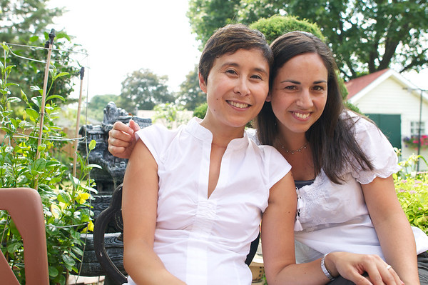 Me and Nancy all in white