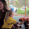 <b>18 Dec 2010</b> St Andrews Market - Josie and Freja (feeding knakkebrot to Pippi)