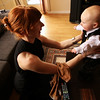 <b>19 Dec 2010</b> Megan and Finn, getting ready for the wedding
