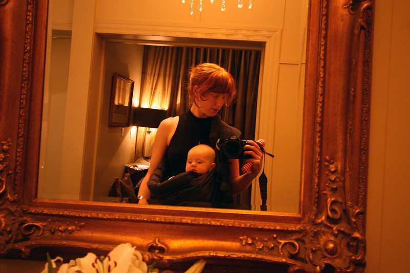 <b>19 Dec 2010</b> Hanging out in the bridal room after a quick feed and change, now ready to face the world again.