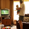 <b>26 Dec 2010</b> Watching the cricket with Grandpa
