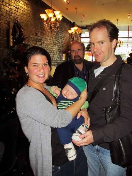 <b>20 Dec 2010</b> Jude and Ray with sleepy Finn