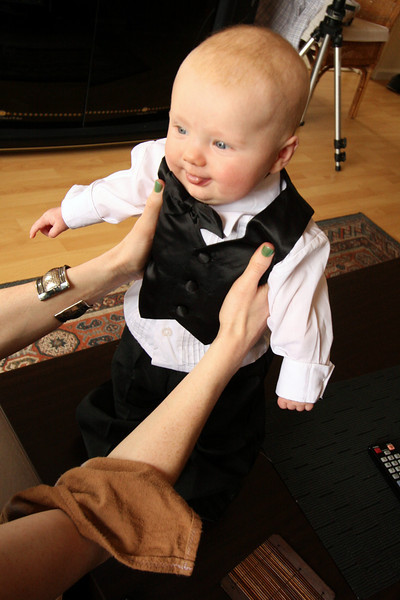 <b>19 Dec 2010</b> Finn in his fancy suit