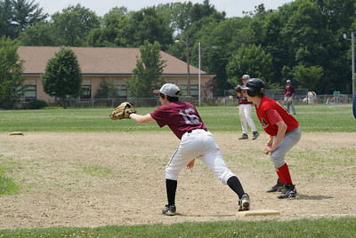 Josh perched for an out!