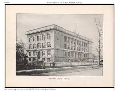 Bloomfield High School - 1912 - MyHeritage