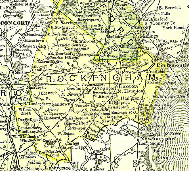 1895 map of chester nh