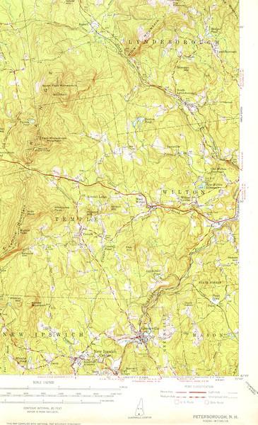 1953 usgs map of Wilton petr53se