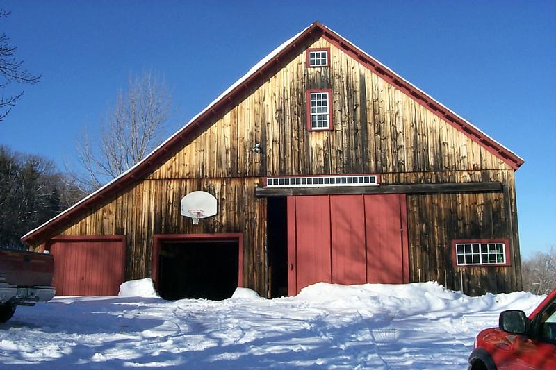 07 Poss new barn at Ezekiel Jewett site Temple NH on Kendall Rd