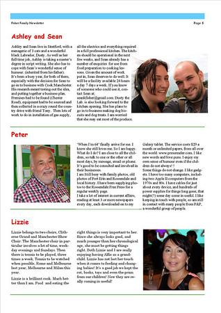 Christmas 2013 Fisher Family Newsletter