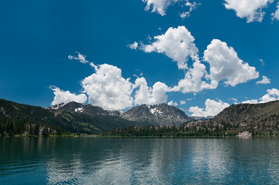 The mountains behind June Lake