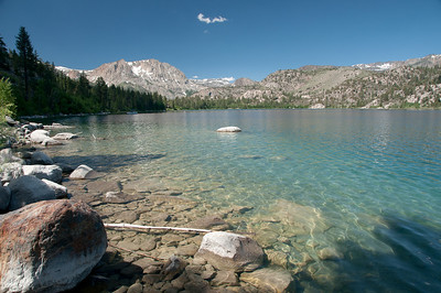 The cool clear waters of June Lake.  So clear, we could see the fish (but unfortunately, they could see us too).