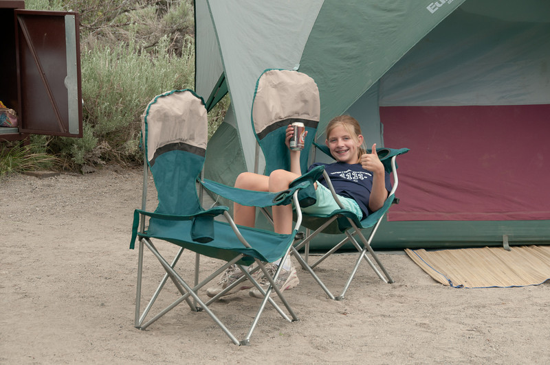 Ahhh, just relaxing in camp