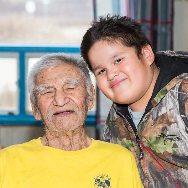 Noah with his great grandfather Abraham Metatawabin.