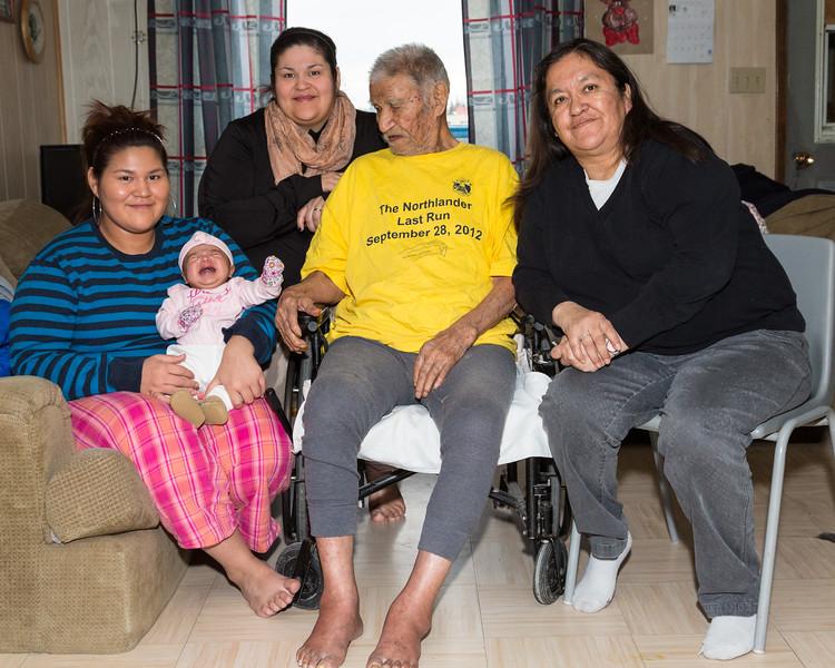 Five generations of Metatawabins: Jodie, Alaina, Skylene, Abraham and Denise.