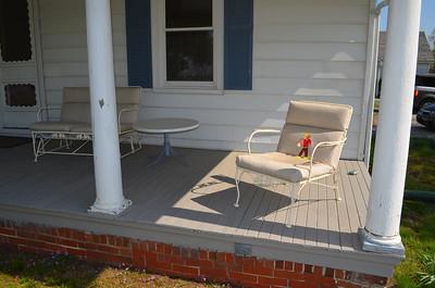 I got some sunshine on the porch.