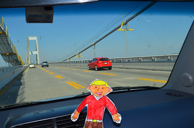 We went across a big bridge that crosses the Chesapeake Bay.  I learned that the bridge is 4 miles long.  The view at the top was great.