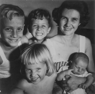 Fleischman Kids with Dorothy Fleischman - Circa 1951
