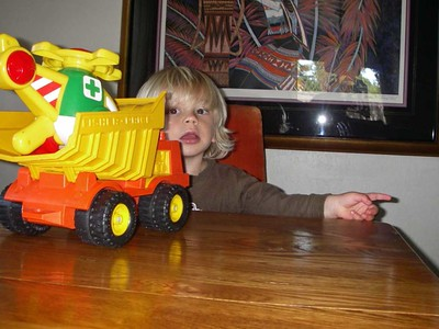 Dump Truck & Helicopter