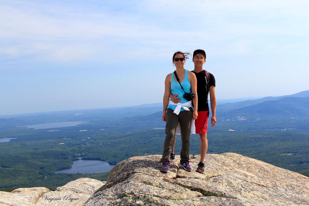 At the top of Mount Chocorua!