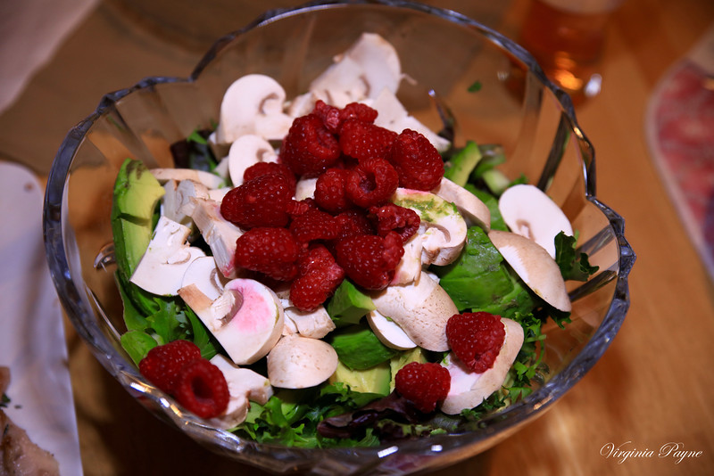 Salad prepared by Florence