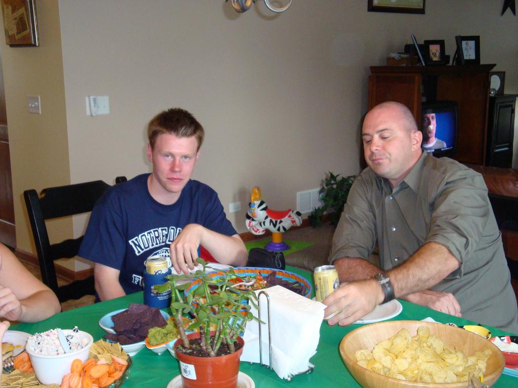 """Irish"" John Flood, Jack's son, with ""young"" Chris Flood."