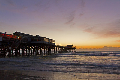 Looking east to Cocoa Beach Pier before the sun comes up.