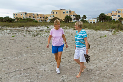 Strolling the beach at Cape Canaveral