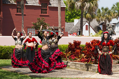 Celebratory dancers at Ponce de Leon Festival
