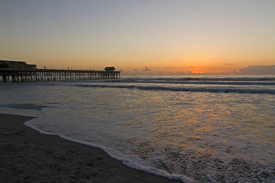 Pier at Cocoa Beach at 6:45 AM before sun comes up