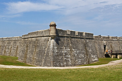 Castillo de San Marcos - old Spanish fort in St. Augustine