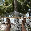 Relaxing in the hammock.