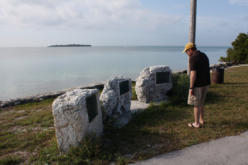 Checking out the local history. Spanish shipwrecks, Indian settlements, U.S. army outposts, etc.