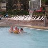 OK- time for some action on the basketball court  (having completed out laps on the Lazy River
