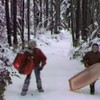 Circa 1984, my two sons Eddy and Matt sledding with their cousins Marco and Mason at siter Tre's house/farm in Olympia, WA.