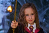 Hermione Granger (aka Caitlin) casting spell