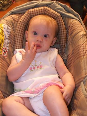 Lizzie's 1st Feeding-10-9-05