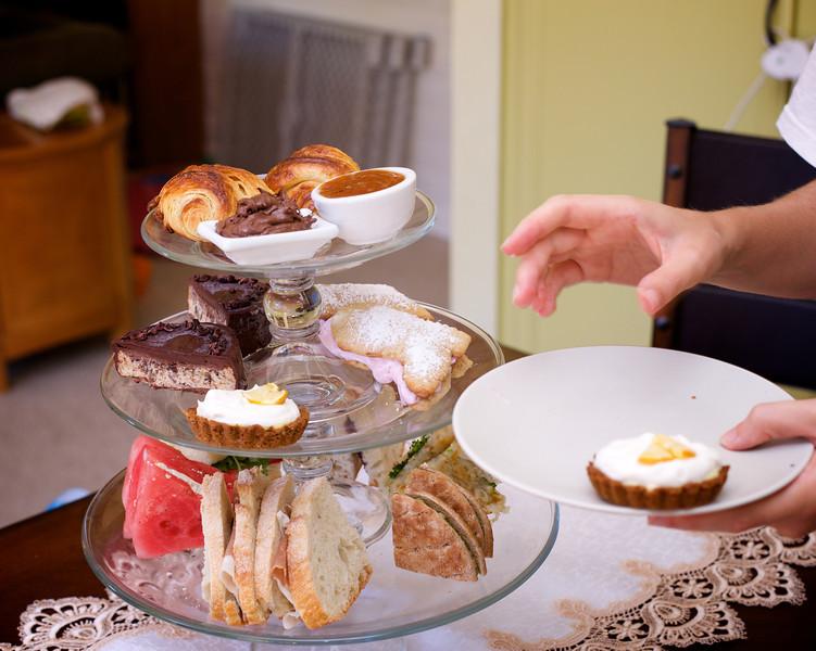 Linnea's Italy-vacation-themed high tea