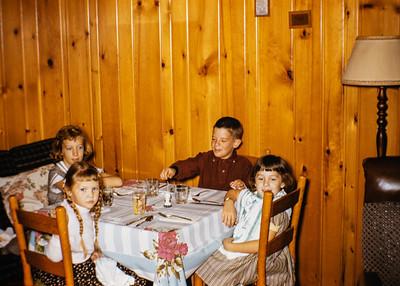 L-R, Becky Collom, Dee Ann Ford, Marty Ford, Debbie Collom. Mid 1950's.