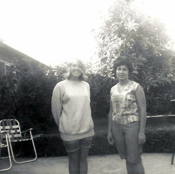 Marie & Cathy Laggart, December 1963