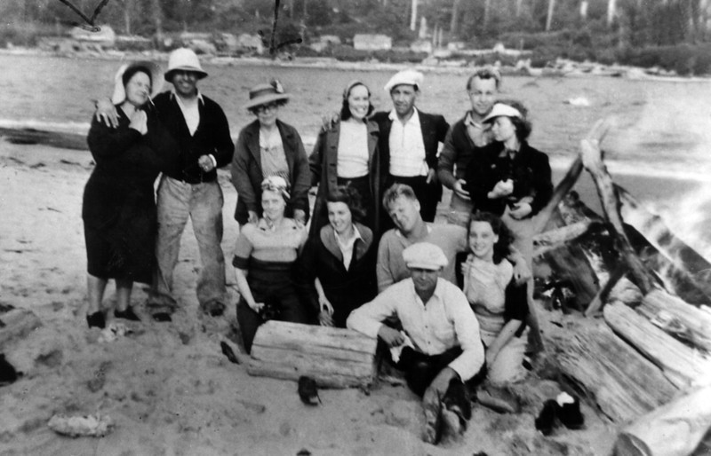 Left to right, back to front-<br /> Elinor, James Sr., Rose Grandma, Nell, Bill, James Jr., & Ruth<br /> ?, Muriel, ?, Bettyann<br /> ?