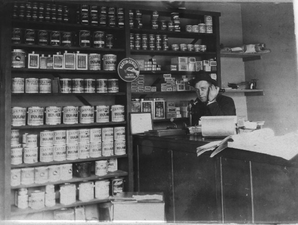James Standford Forster, Sr. at his Paint Store