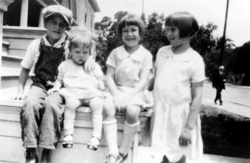 Left to right-<br /> James Stanford Forster, Jr., Bettyann Forster, Muriel Forster, Elinor Forster