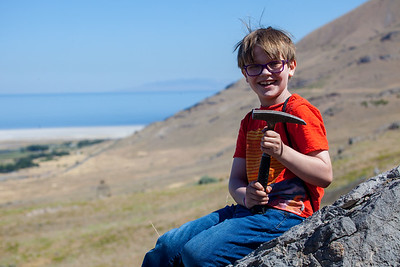 The proper equipment and eye protection!  Charlie is very well versed in geology.  It was fun to hear him talk.